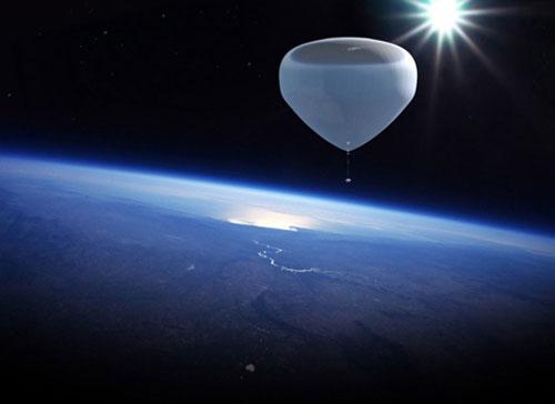 Khí cầu heli có thể được đưa lên độ cao 36km, vùng cận vũ trụ phục vụ du lịch và nghiên cứu khí hậu. (Ảnh: Gizmag)