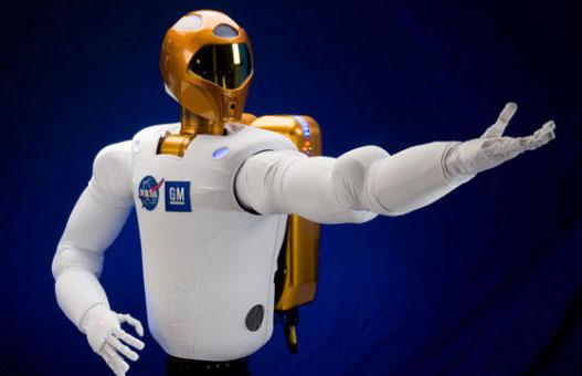 Robot giống người thức dậy trong vũ trụ