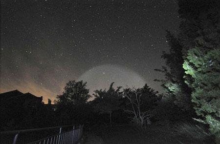 Quầng sáng lạ khổng lồ trên bầu trời Trung Quốc