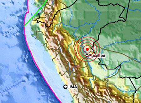 Động đất mạnh ở Peru