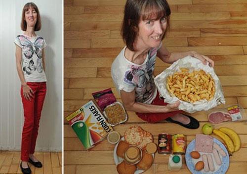 """Người phụ nữ """"cuồng ăn"""" nhưng không thể béo"""
