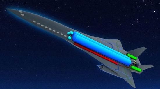 Máy bay tên lửa ZEHST đáp ứng được cả 2 tiêu chuẩn nhanh và sạch - (Ảnh: EADS)