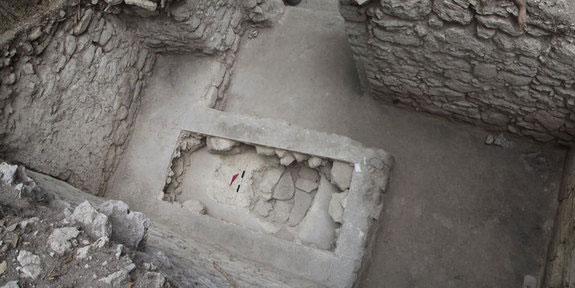 Quang cảnh nơi phát hiện ngôi mộ của hoàng tử Maya.