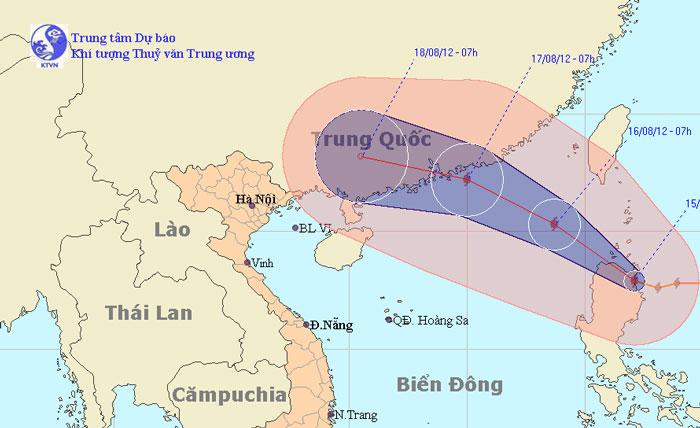 Quảng Ninh đến Quảng Ngãi chịu ảnh hưởng trực tiếp bão Kai-Tak