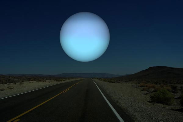 Uranus - Sao Thiên Vương.