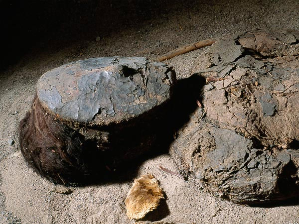 Đây là một khuôn mặt xác ướp được sơn mặt nạ