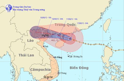 Bão Kai-Tak mạnh lên, Bắc Bộ mưa to dịp cuối tuần