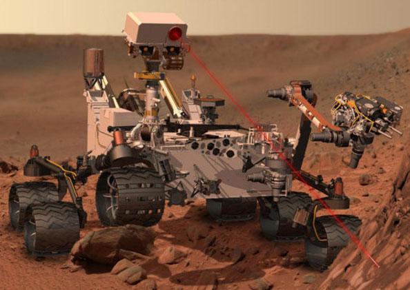 Robot thám hiểm sắp phóng tia laser trên sao Hỏa
