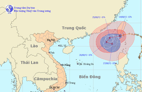 Bão mạnh giật cấp 16 sắp vào biển Đông