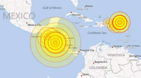 Động đất gây sóng thần ở Trung Mỹ