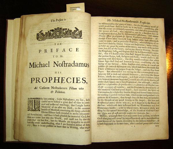 Cuốn sách ghi lại những lời tiên tri của Nostradamus