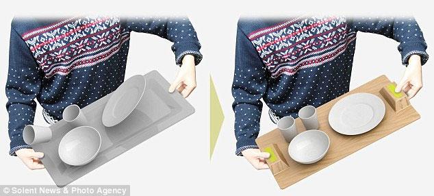 Magic Tray - khay đựng chén dĩa chống trượt