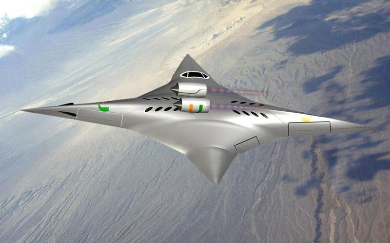Máy bay siêu âm có thể quay 2 chiều