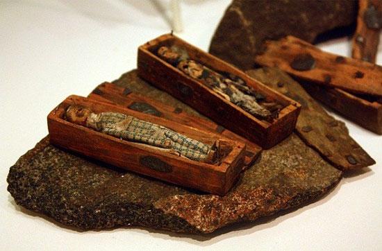 Bí ẩn trong 17 chiếc quan tài gỗ chứa xác ướp tí hon
