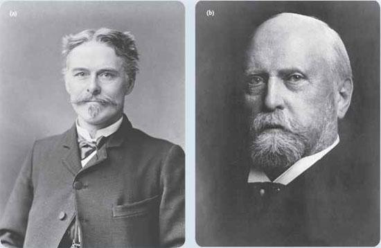Edward Drinker Cope (trái) - Othniel Charles Marsh và cuộc chiến tranh về xương