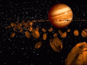 Một tiểu hành tinh bay giữa Trái Đất và Mặt Trăng