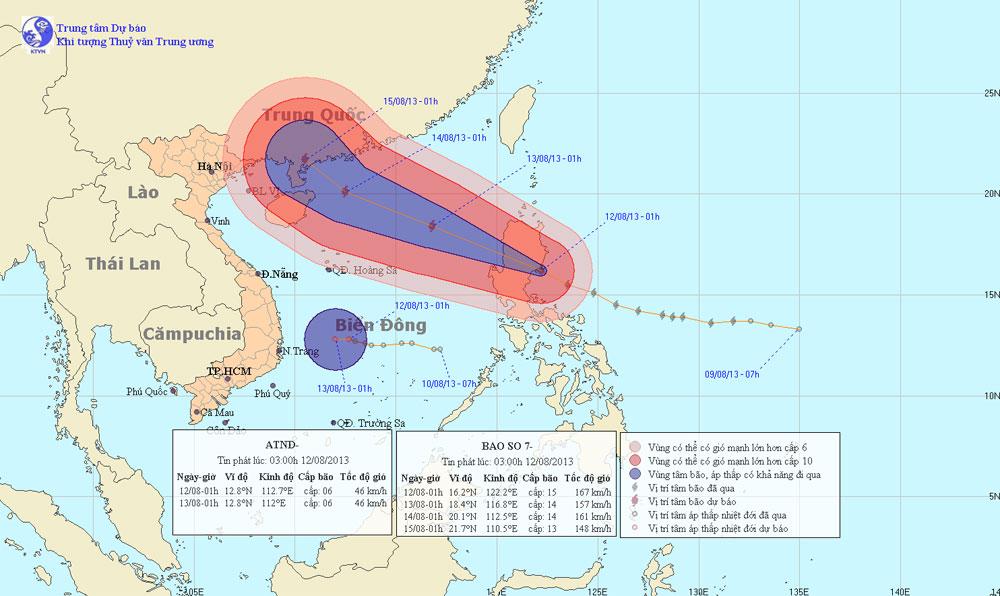 Bão Utor tăng cấp, áp sát gần biển Đông