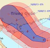 Ngày mai bão Utor gây gió mạnh tới 100km/h ở vịnh Bắc Bộ