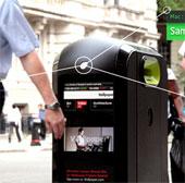 Thùng rác thông minh nhận biết smartphone qua WiFi để quảng cáo