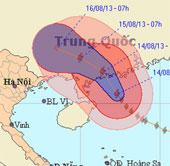 Siêu bão Utor vào Trung Quốc