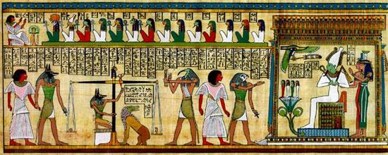 Chiếc lông vũ được coi là vật tượng trưng của nữ thần Maat