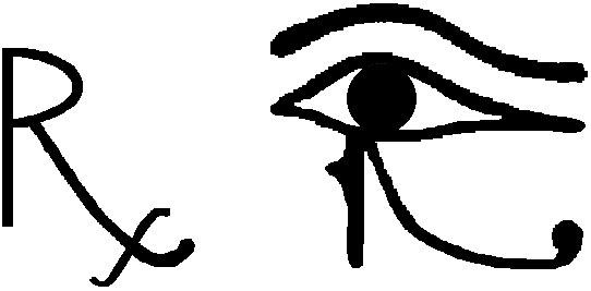 Kí hiệu Rx ngày nay dành cho các toa thuốc, nó mang ý nghĩa tượng trưng cho sự hồi phục và tính thống nhất.