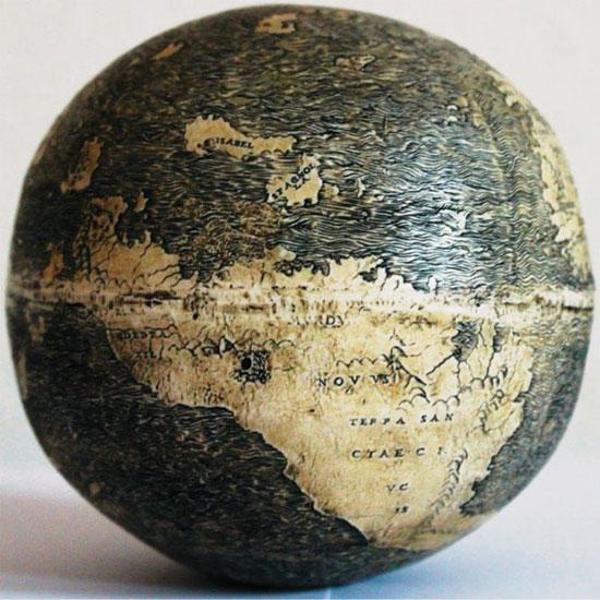 Quả địa cầu xưa nhất có vẽ Tân Thế Giới