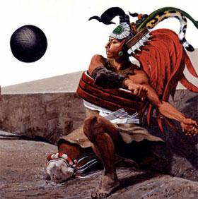 Pok-a-tok: Trò chơi bóng hiến tế khủng khiếp của người Maya
