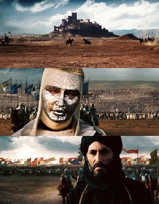 Baldwin IV và Saladin (cảnh trong phim Kingdom of Heaven)