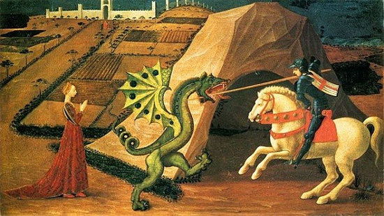 St. George và con Rồng - tranh của danh họa Paolo Uccello,
