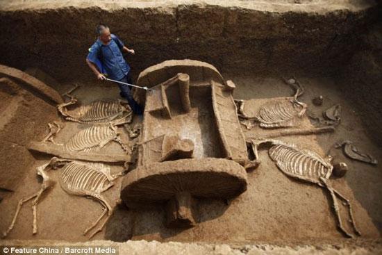Khai quật ngôi mộ có niên đại 3000 năm tuổi
