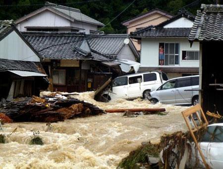 20 người chết vì bão tại Nhật