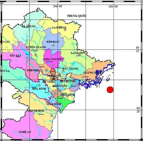 Động đất cách Hạ Long khoảng 90km