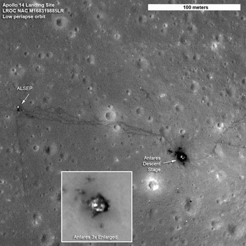 Dấu vết con người lên mặt trăng
