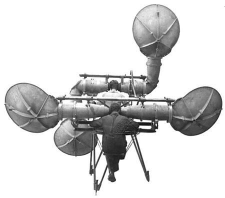 Máy định vị âm thanh với 4 ống nghe của CH Czech năm 1920.