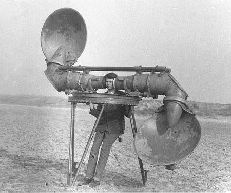 Máy định vị âm thanh 2 ống nghe của CH Czech năm 1920.