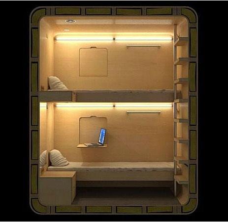 Hộp giường ngủ cho du khách trong tương lai