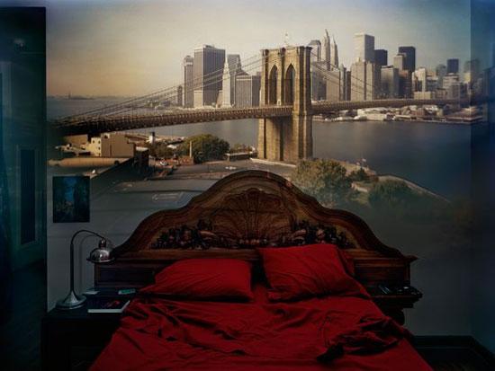 Hình ảnh cây cầu Brooklyn trong phòng ngủ