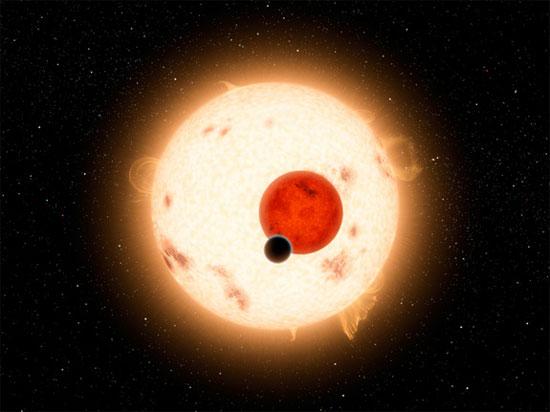 Hình minh họa hành tinh xoay quanh hai ngôi sao. (Đồ họa: NASA)