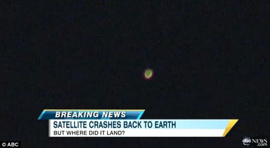 Video vệ tinh UARS rơi xuống trái đất (1)