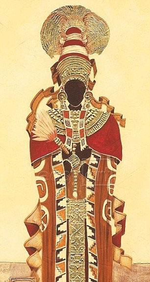 Hình tượng Nữ hoàng Maya trong tranh vẽ truyền thống.