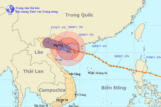 Trưa nay, bão Nesat đổ bộ Quảng Ninh - Nam Định