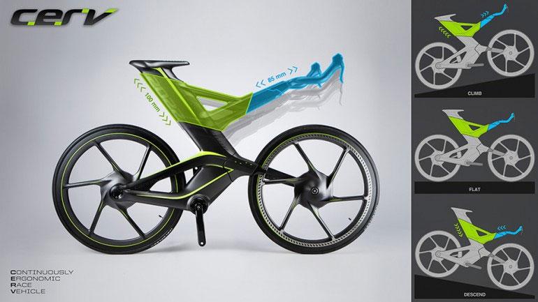 Xe đạp không xích CERV phù hợp cho mọi loại địa hình