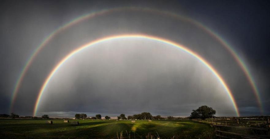 Cầu vồng kép tại bang Wyoming, Mỹ vào ngày 1/9