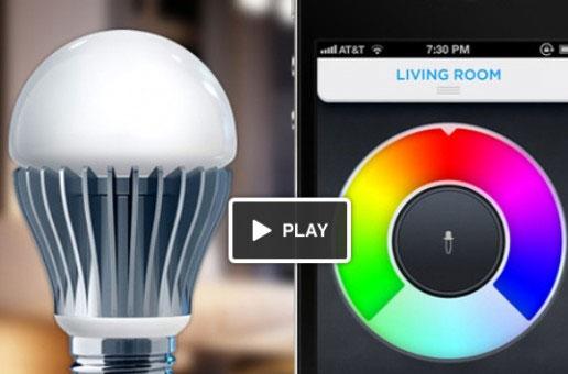 Màu sắc của các bóng đèn có thể thay đổi theo ý muốn của người sử dụng.