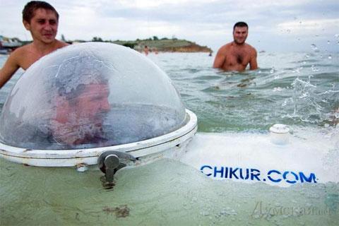 Video: Tàu ngầm tự chế lặn sâu 50 mét