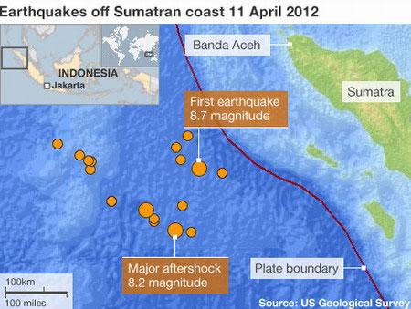 Động đất tại đảo Sumatra báo hiệu sự đứt gãy đáy Ấn Độ Dương