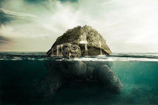 Loài rùa khổng lồ Aspidochelone