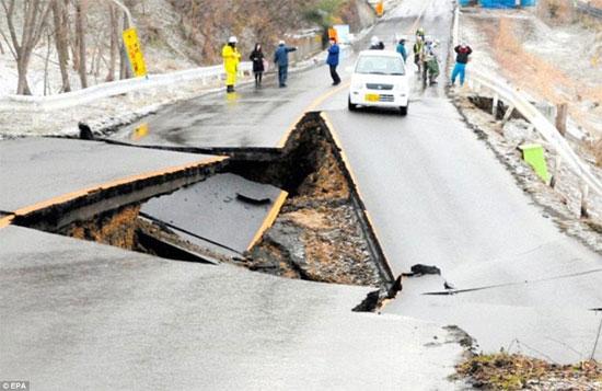 Động đất mạnh 5,9 độ Richter rung chuyển Fukushima