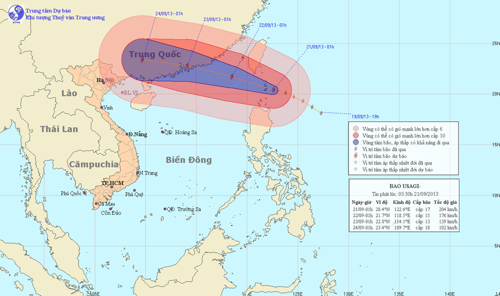 Siêu bão Usagi mạnh nhất năm tiến vào Trung Quốc